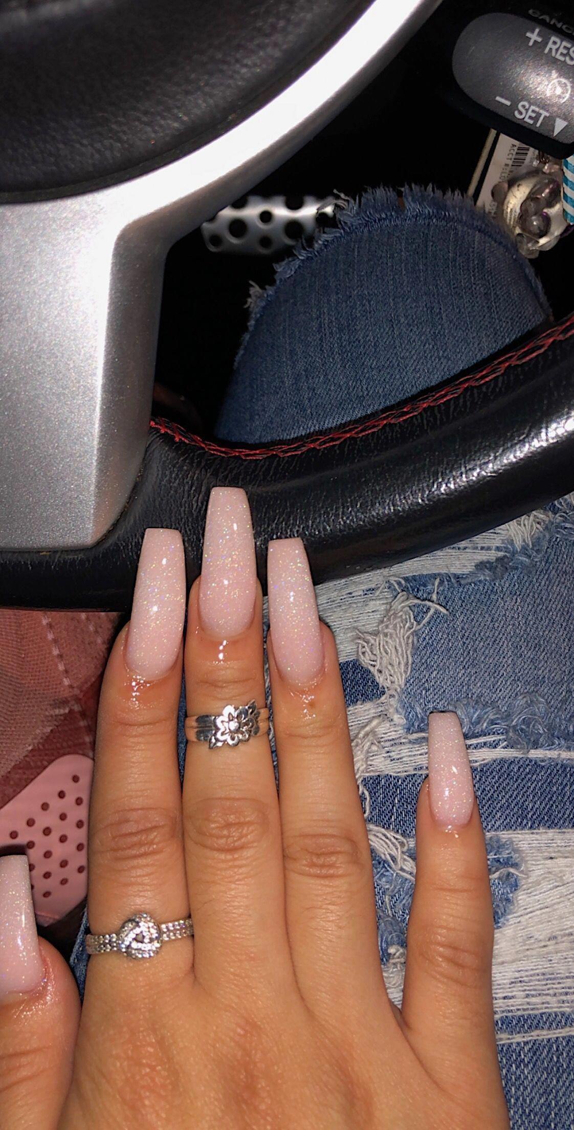 Acrylic Glittery Pink Powder Glittery Pink Acrylic Powder Glittery Pink Acrylic Pow In 2020 Acrylic Nail Powder Square Acrylic Nails Glittery Acrylic Nails
