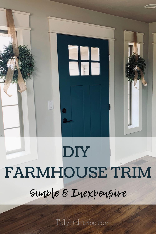 DIY FARMHOUSE TRIM in 2020 Farmhouse trim, House trim