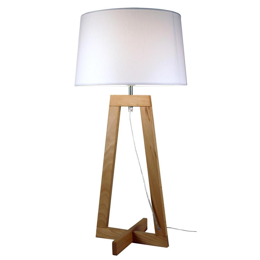 Sacha Lampe A Poser Ecru Bois H68 5cm Aluminor Lampe A Poser Composee D Un Pietement En Bois Naturel Suportant Un A Lampe A Poser Bois Lampe A Poser Lampe