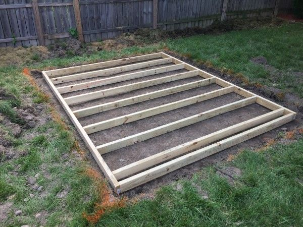 Build A Shed Floor With Pressure Treated Wood Shed Floor Shed Base Building A Shed