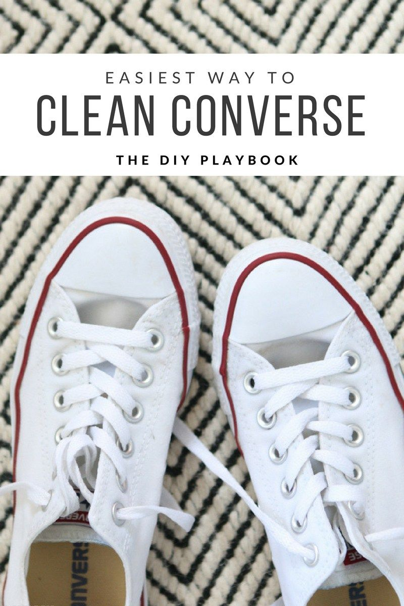 1908300607e1 How to clean your converse gym shoes in the washing machine. Such an easy  way to take your dingy shoes to bright and white!