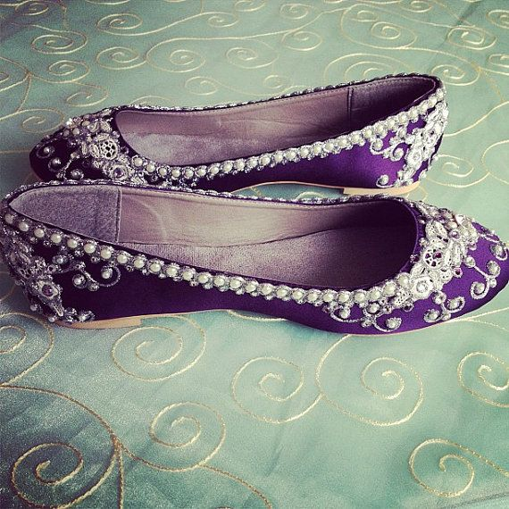 Cinderellas Slipper Bridal Ballet Flats Wedding By BeholdenBridal WeddingFlat ShoesWedding HeelsPurple