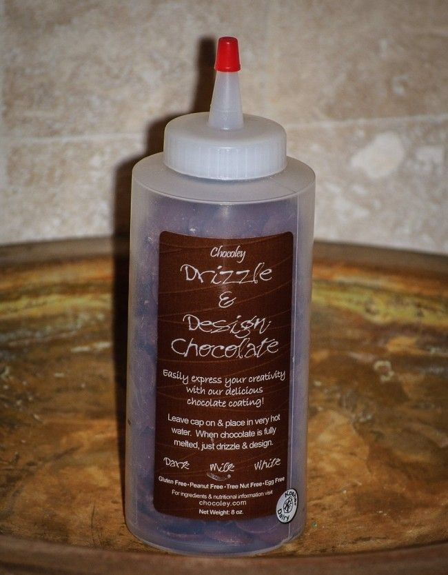 Milk Chocoley Drizzle & Design Chocolate in a squeeze bottle. 8 oz. net weight