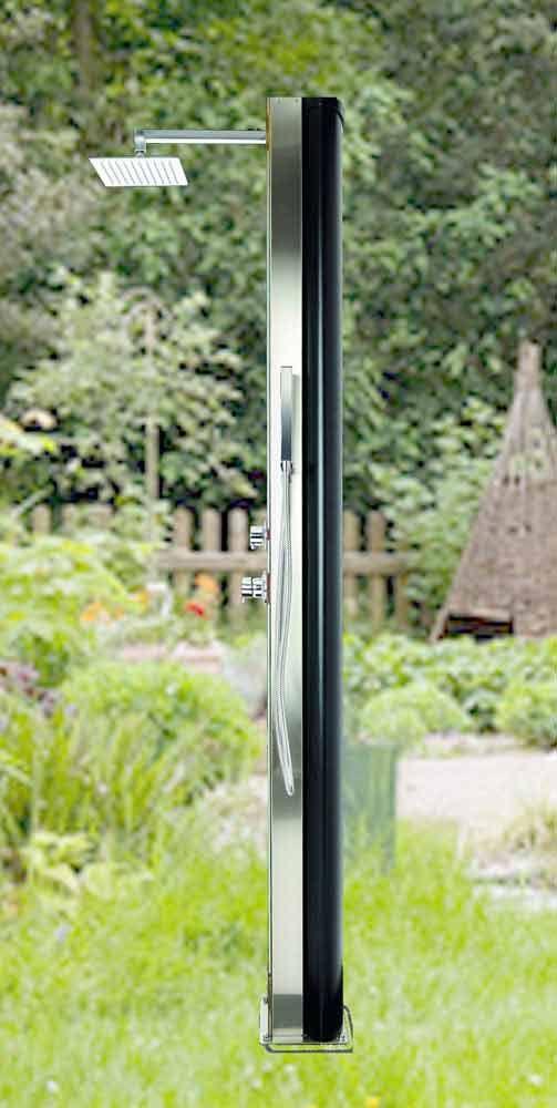 solardusche trinidad f r garten oder terrasse sonnenenergie nutzen und warm duschen was man. Black Bedroom Furniture Sets. Home Design Ideas