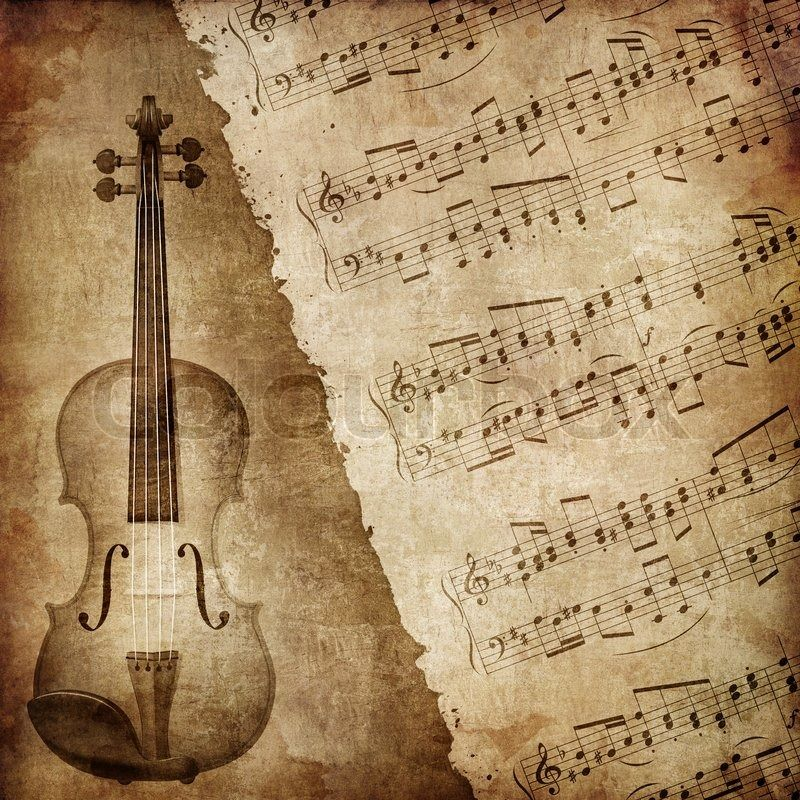 Textured Wallpaper on Of Old Paper Retro Music Texture ...