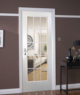 Balmoral 15 Lite Pre-Painted Glazed Internal Door - 762mm Wide