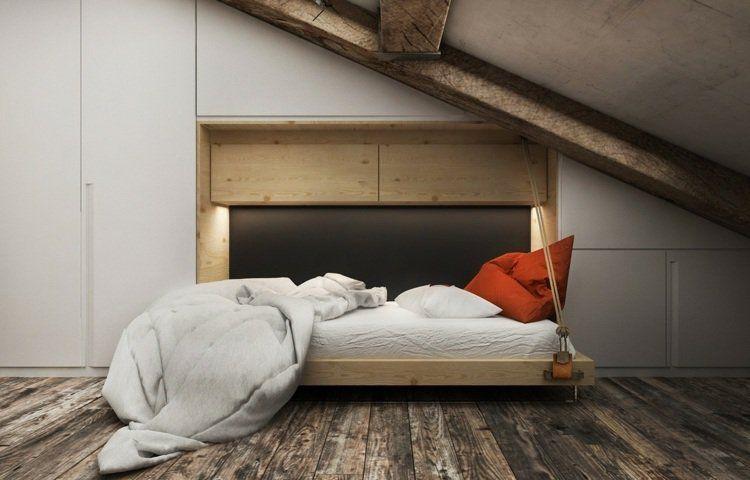 placard sous pente encastr id es de rangement astucieuses trucs du grenier lit combles et. Black Bedroom Furniture Sets. Home Design Ideas