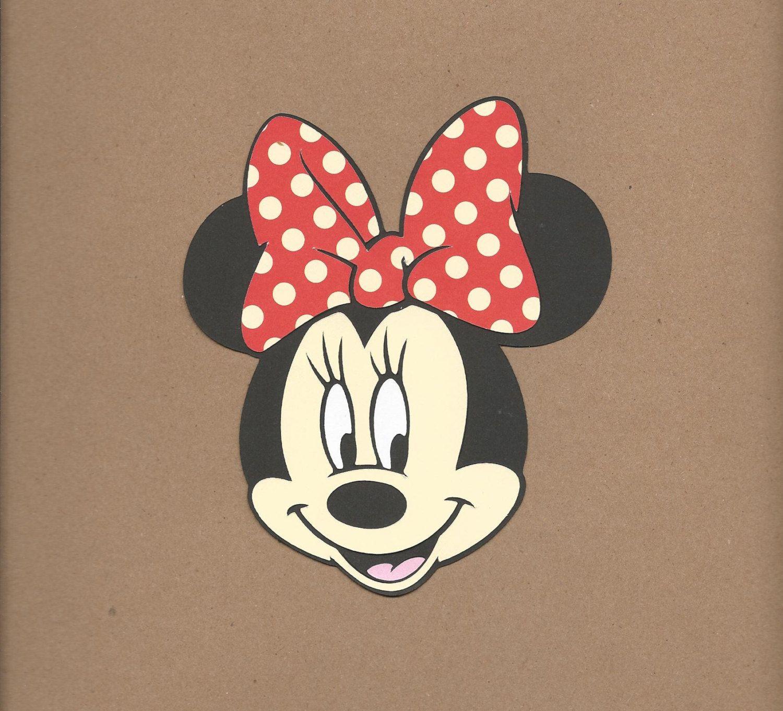 8 Inch Tall Minnie Mouse Head Cricut DIe By Thescrapbookgirls