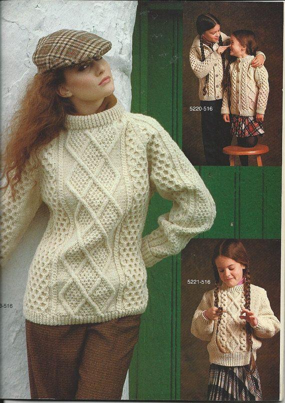 Bernat Knitting Pattern Book Irish Knits 14 Styles Cable Etsy Pattern Books Knitting Patterns Knitting