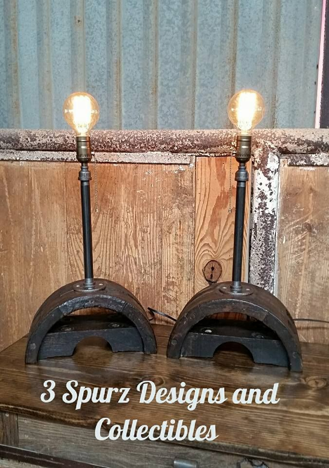 repurposed lighting. This Wooden Industrial Pulley Has Been Transformed Into A Pair Of Accent Lamps. We Wanted Repurposed Lighting