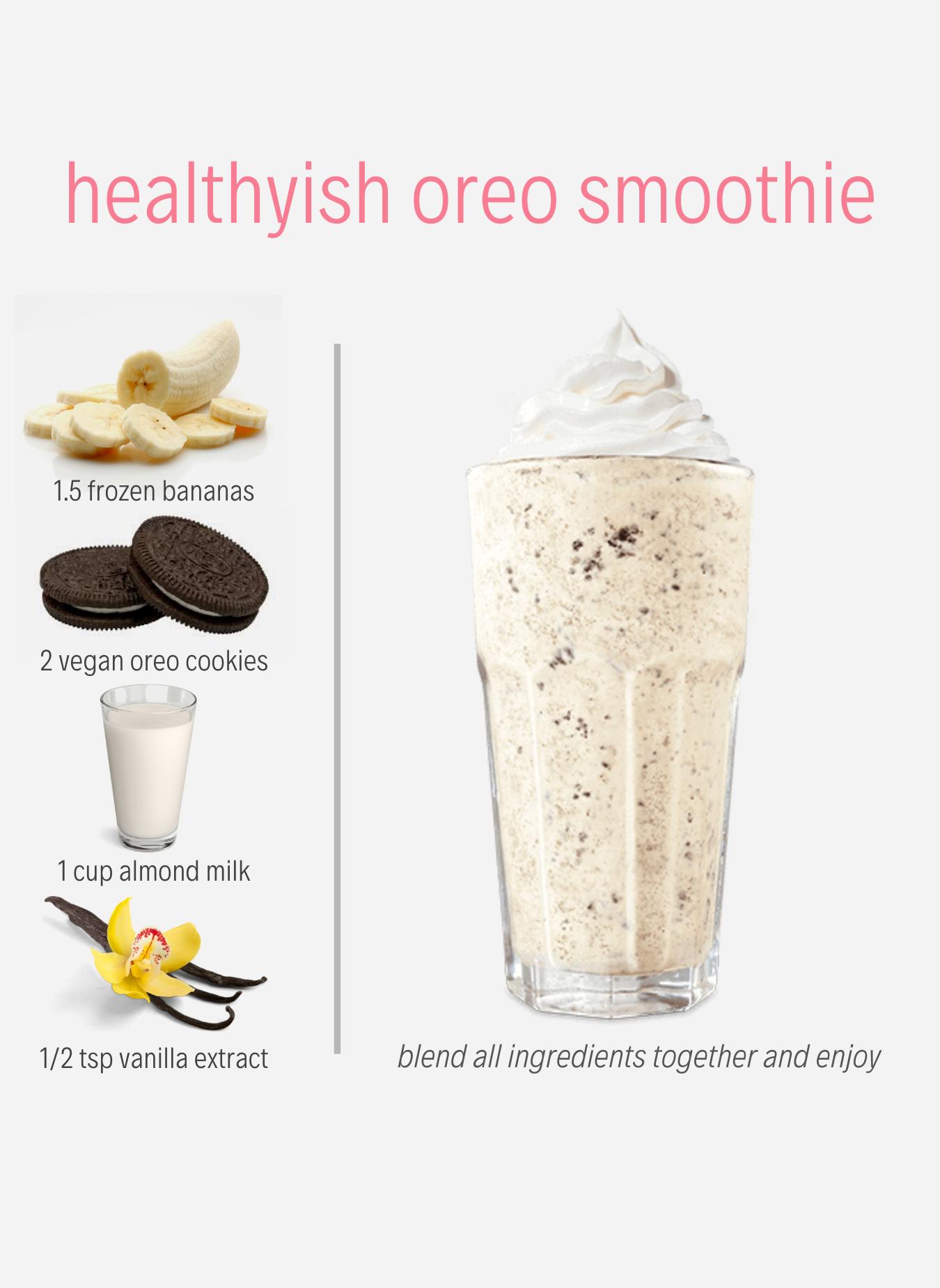 Basado En Programas De Preparacion De Comidas Planta Vegan Milkshake Recipes Oreo Smoothie Easy Smoothie Recipes