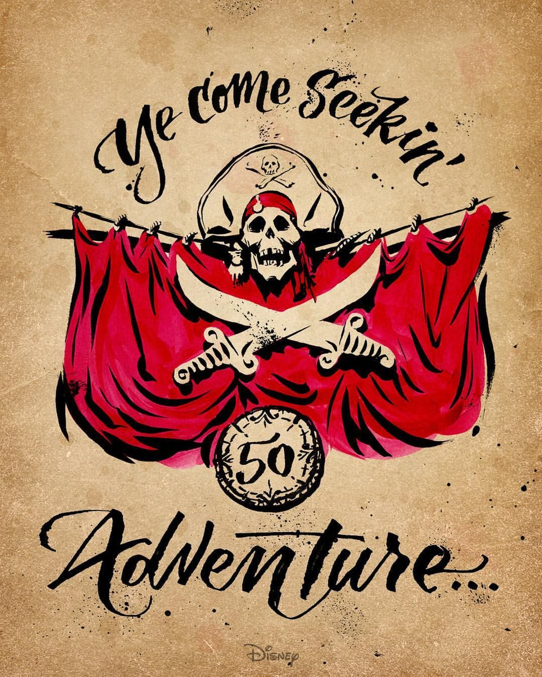 """""""What a treasure. ☠ 🌊 Today marks the 50th anniversary of the  #PiratesOfTheCaribbean ride at…"""""""