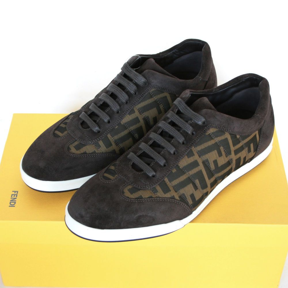 52e8019c FENDI zucca FF monogram logo sneakers leather trainers shoes ...