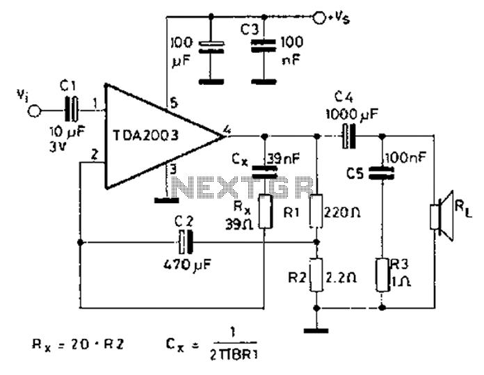 tda2002 power amplifier circuit electronic circuits