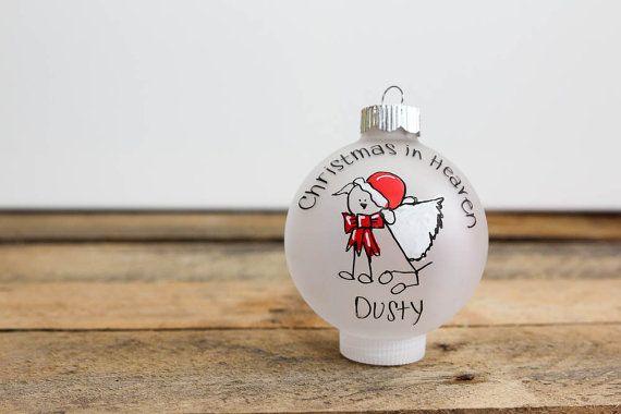 Dog in heaven ornament