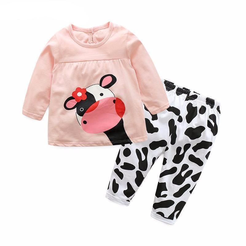 e6ae74a4f 2 Piece Cow Print Baby Clothes
