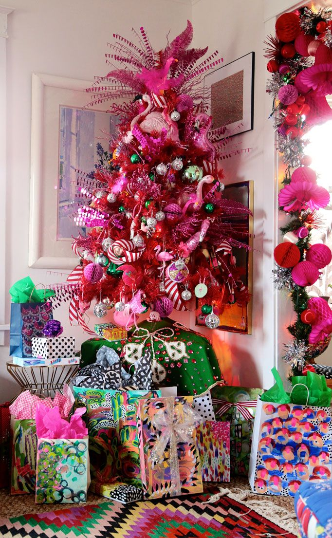 Flamingo Christmas Tree Aunt Peaches I Must Make This
