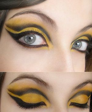 bumble bee face makeup Disfraz abeja maquillaje Pinterest