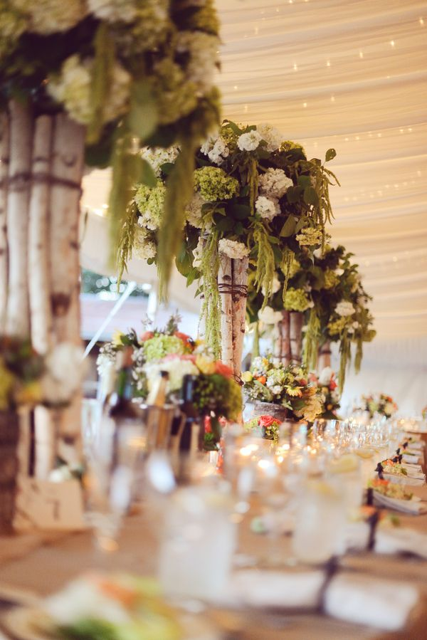 tall wedding centerpiece wedding flowers birch wood wedding hydrangea wedding rustic wedding flowers c simply bliss photography