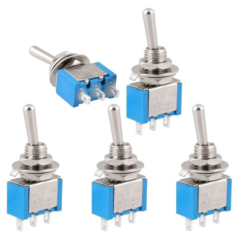 5Pcs//set  AC ON//OFF SPDT 3 Pin 2 Position Latching Toggle Switch tool