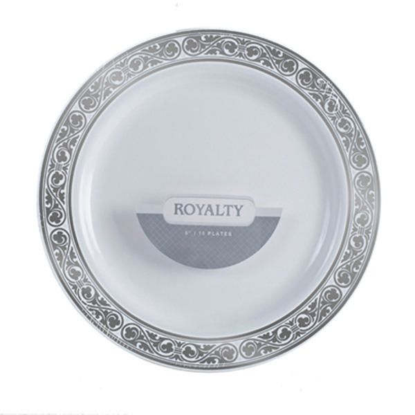 Royalty 6 Inch Plastic White Plates with Silver Band/Case of 120 Tags Dessert  sc 1 st  Pinterest & Royalty 6 Inch Plastic White Plates with Silver Band/Case of 120 ...