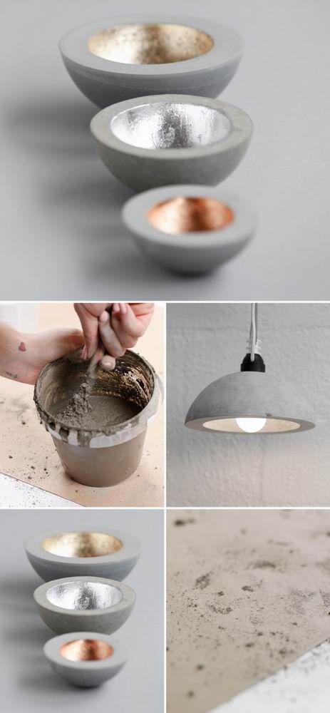Luminária de Concreto - Luminária de Concreto, faça luminária