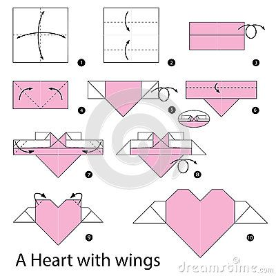 Instrucciones paso a paso cómo hacer papiroflexia un corazón con las ...