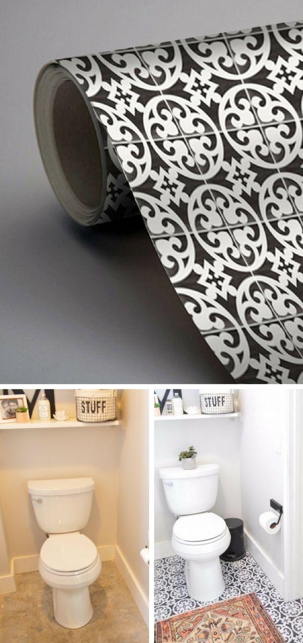 carrelage adhesif pour sol salle de bain. Black Bedroom Furniture Sets. Home Design Ideas