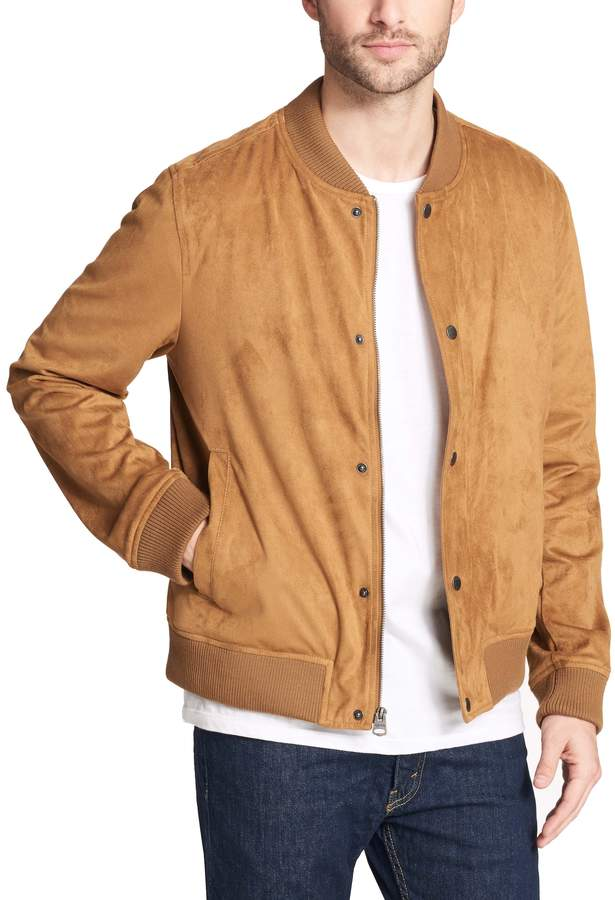781bc17a7 Men's Levi's Faux-Suede Varsity Bomber Jacket in 2019 | Products ...