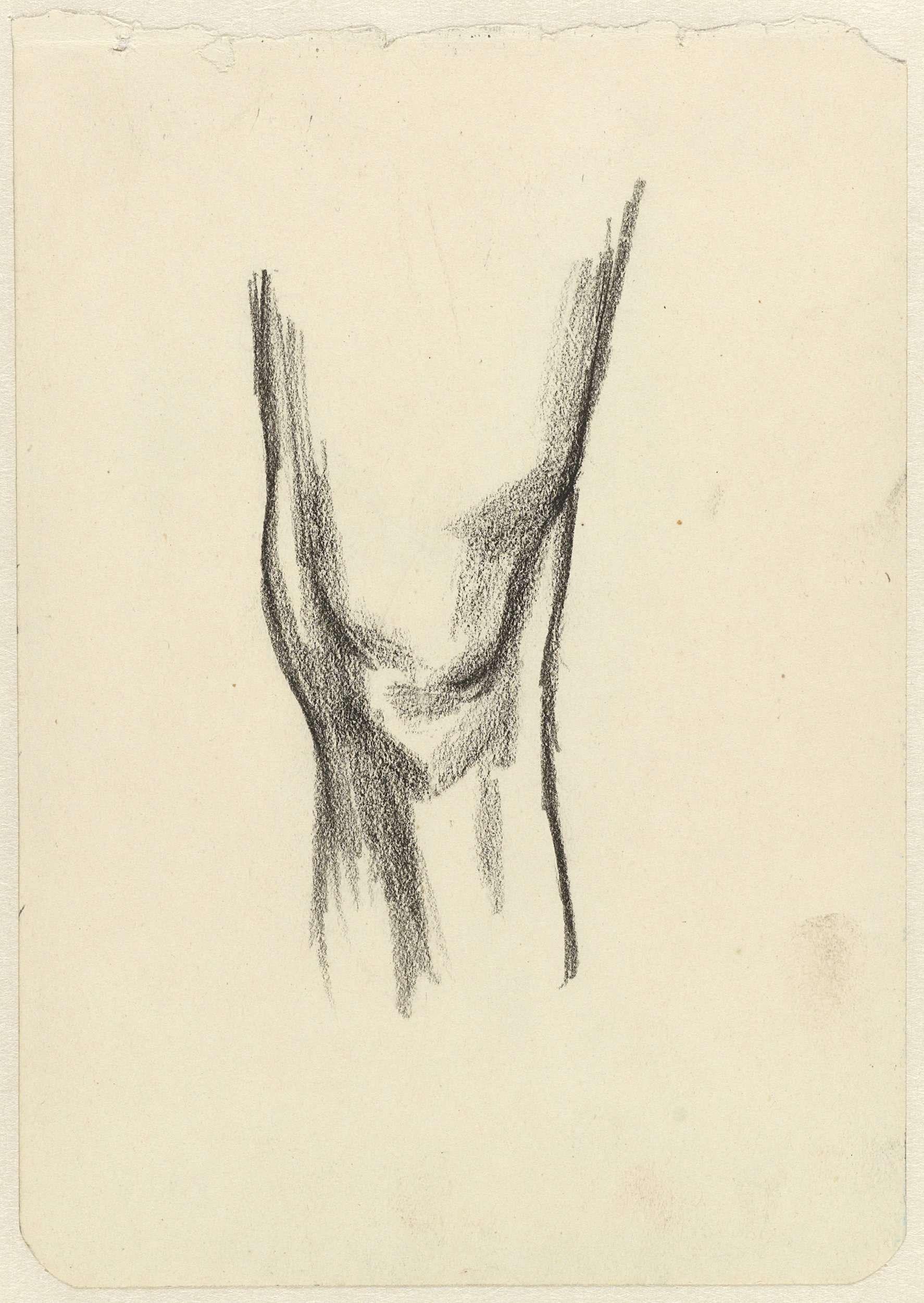 Jan Toorop | Studie van een knie, Jan Toorop, 1868 - 1928 |