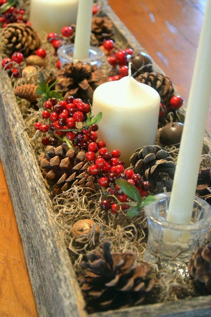 Facebook Christmas Pinterest Navidad Centros De Mesa Y