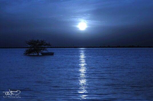 The Blue Nile at night, Khartoum  النيل الأزرق في الليل   https://flic.kr/p/oT7m19   #sudan #khartoum #nile