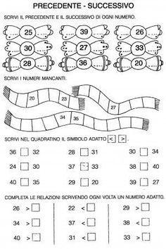 Risultati immagini per schede di matematica per bambini di