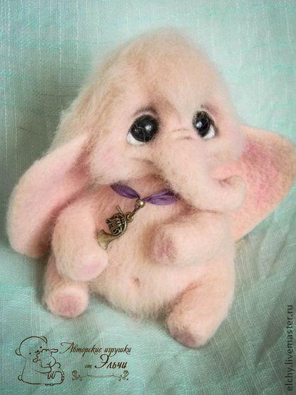 Игрушки животные, ручной работы. Ярмарка Мастеров - ручная работа Розовый слоняшка. Handmade.