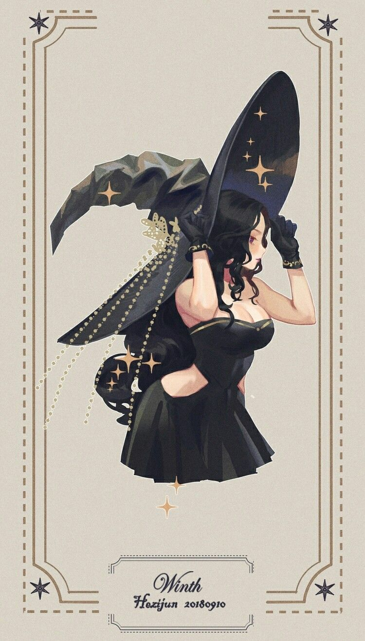 Cute witch painting. (With images) Witch characters
