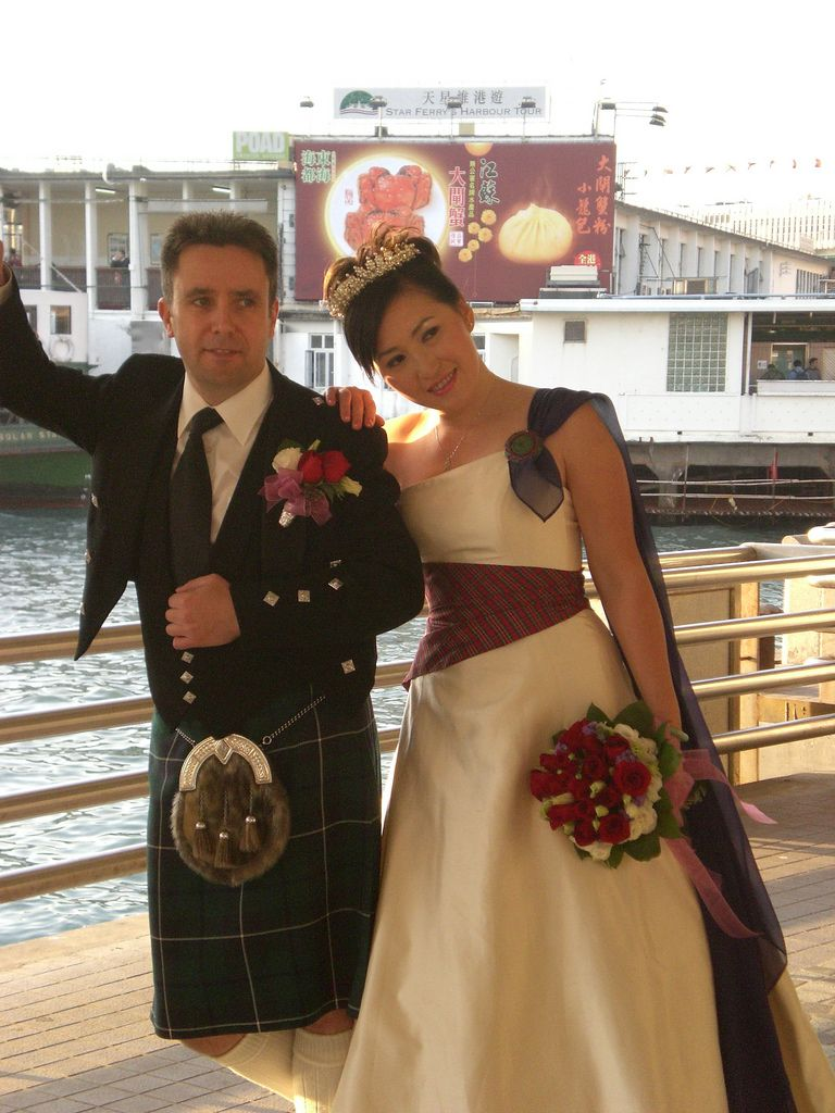 say aye to the dress | tartan sash, scottish wedding dresses and