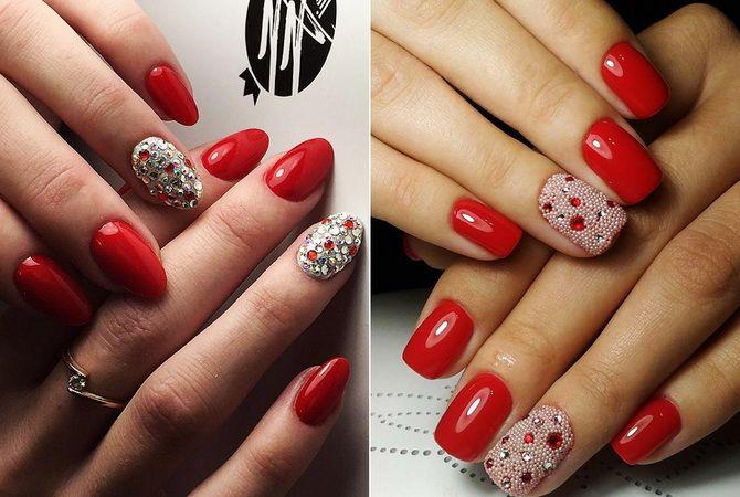 Красный маникюр с золотым дизайном: фото, варианты ногтей ...