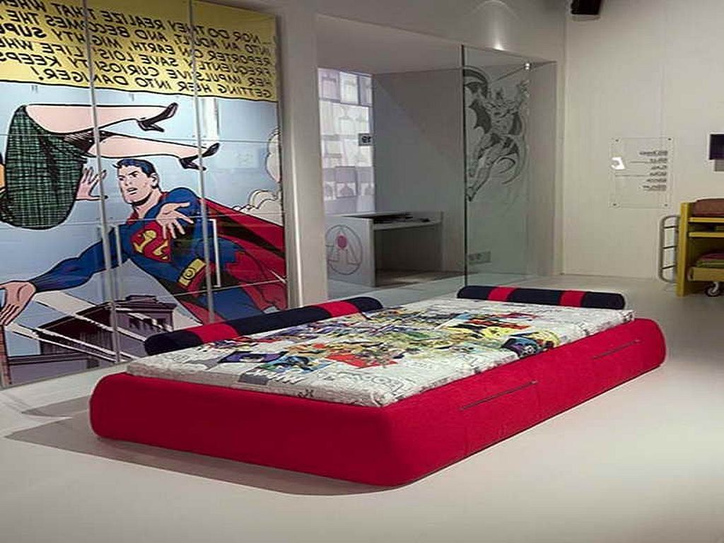 Superman Themed Bedroom 117 superhero themed bedroom for boys | bed room, bedrooms and room