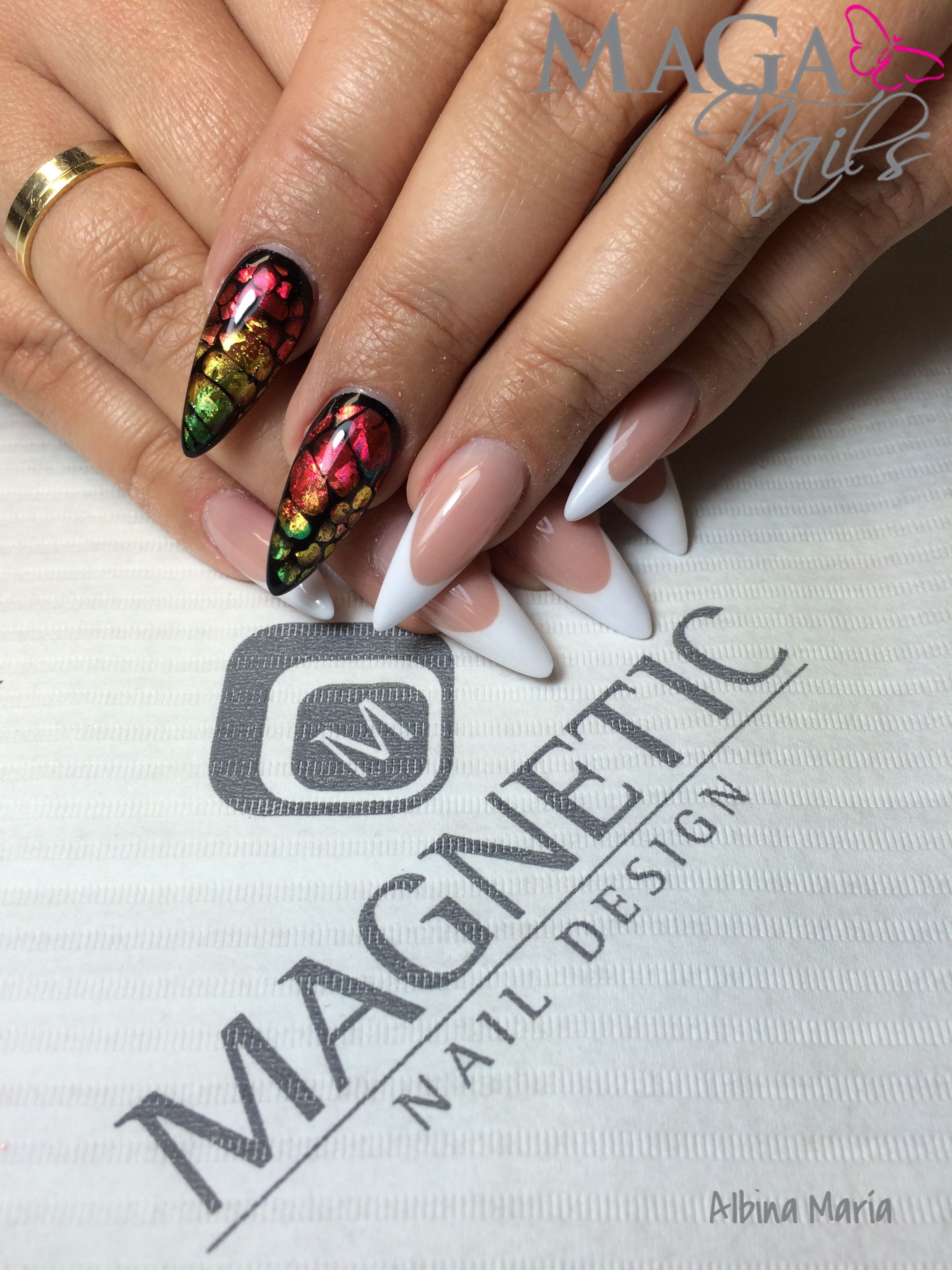 Foil Nail Art Reptil Magnetic Nail Nails Pinterest Foil