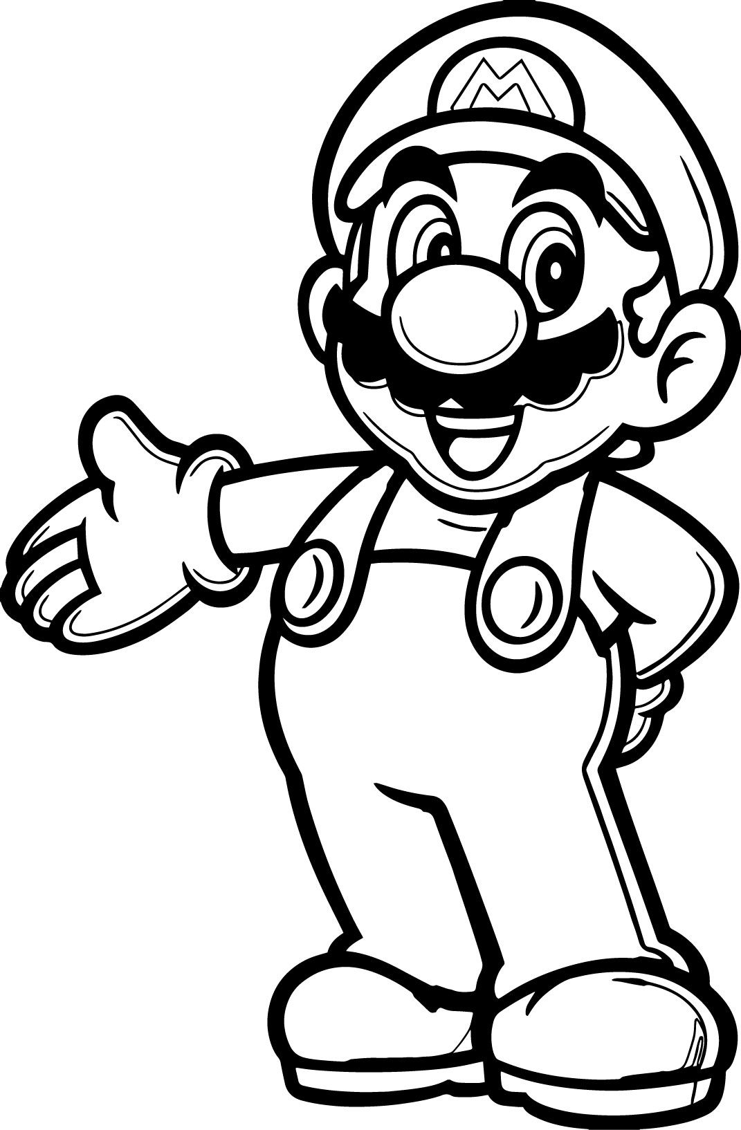 20 Populer Cartoon Coloring Pages Cakes Mario