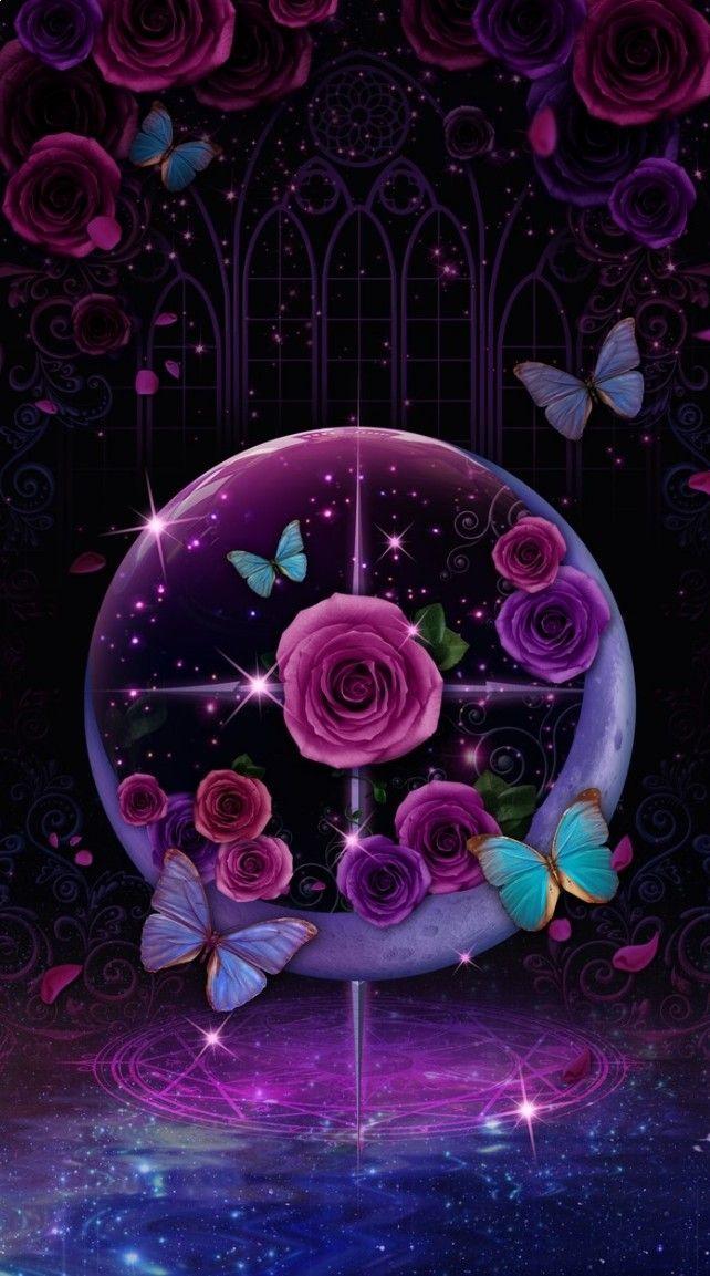 Pin by Gralyne Watkins on *Wallpaper - Girly 1   Purple ...