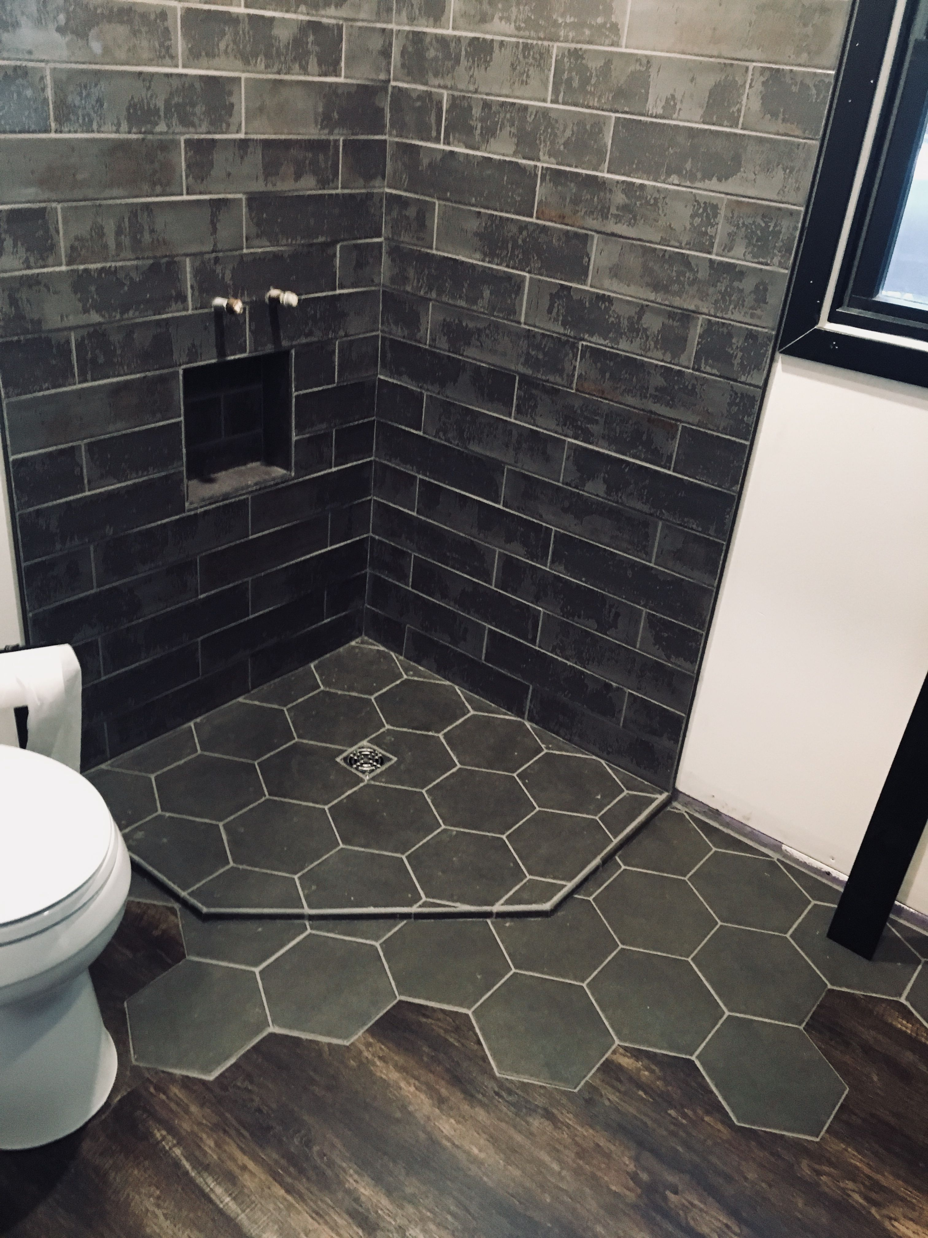 37+ Hexagon tile to wood transition ideas