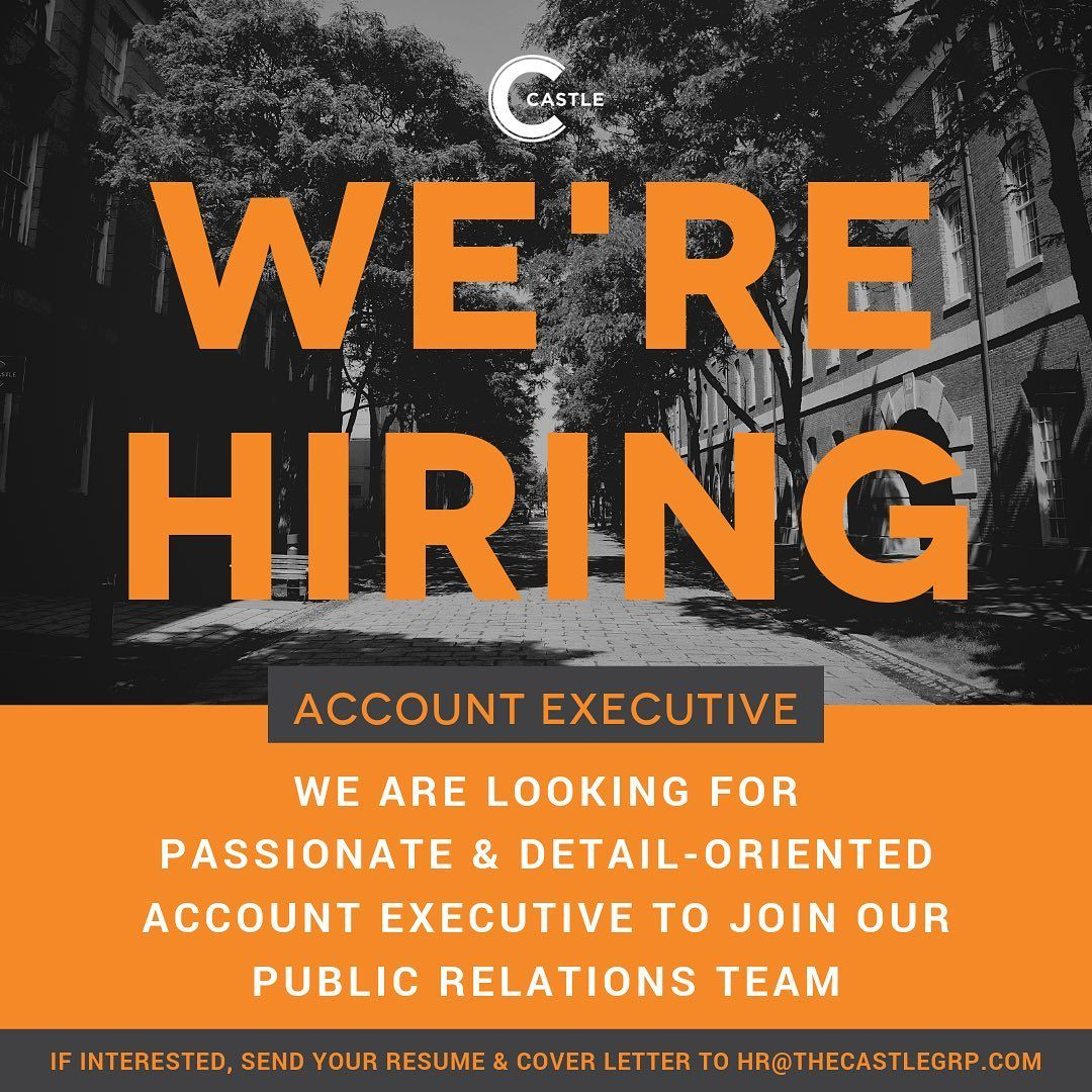 Join Our Team The Castle Group Is Seeking An Account Executive To