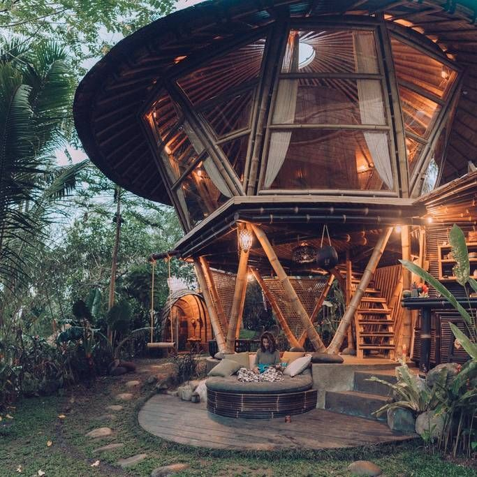 HIDEOUT BEEHIVE Eco Bamboo Home Tiny houses for Rent