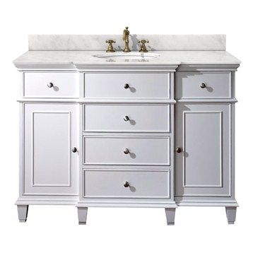 Avanity Windsor 48 Vanity Only White White Vanity Bathroom Single Bathroom Vanity Single Sink Bathroom Vanity