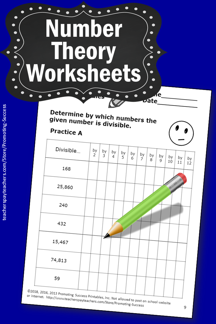 medium resolution of Number Theory GCF LCM Divisibility Rules Worksheets Digital Activities  Printable   Number theory