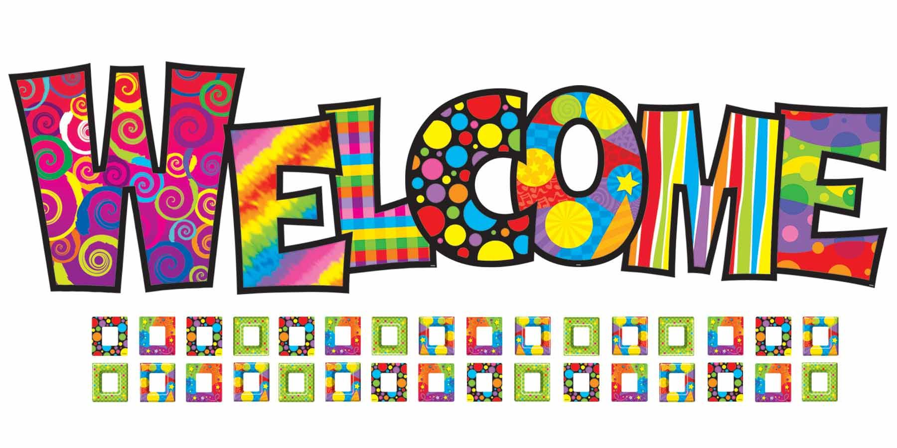Trend Razzle-Dazzle Welcome Bulletin Board Set | Back to School ...