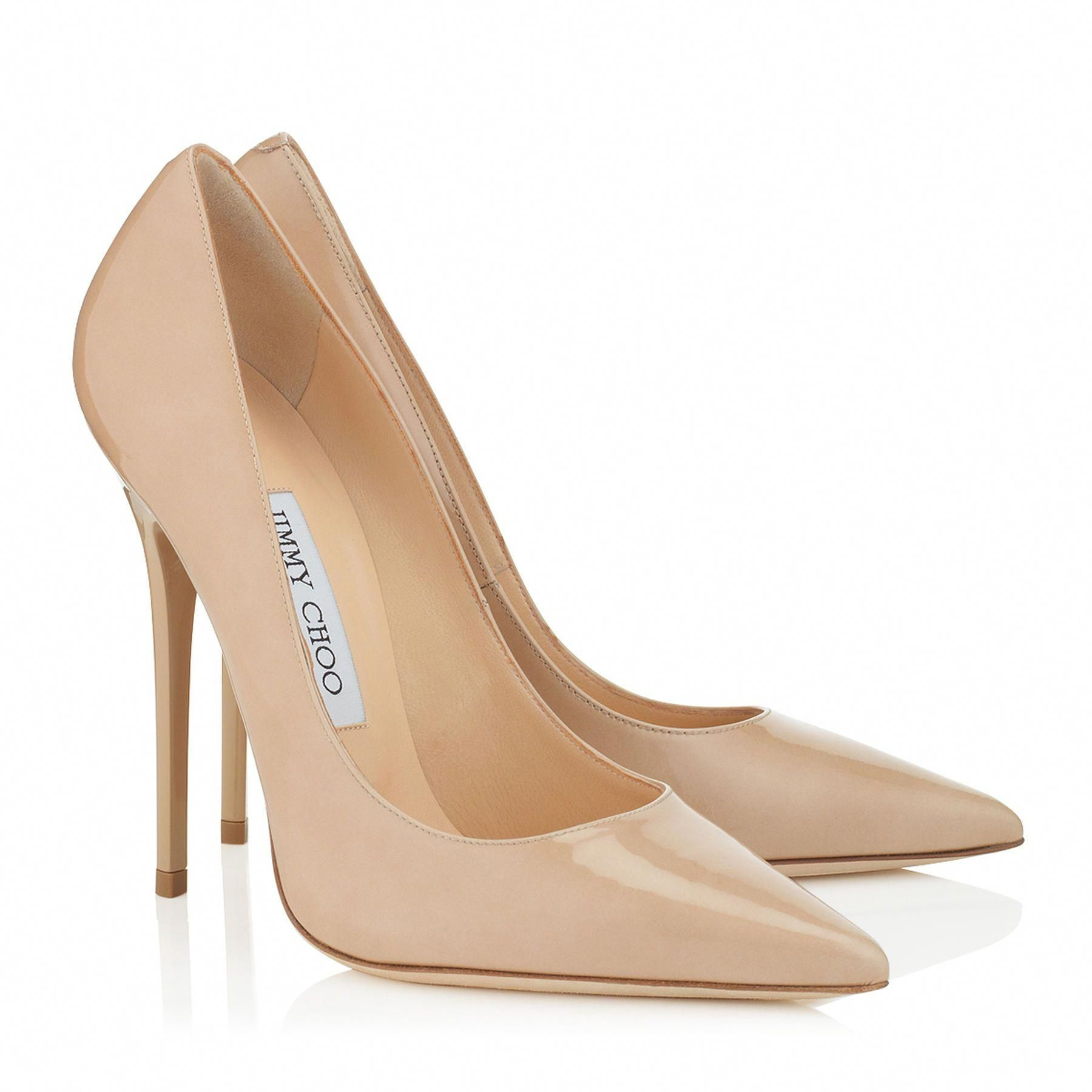 Jimmy choo Nude Suede esme 85 Stiletto Pumps in Natural