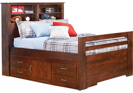 Carter S Kids Collection Lost Creek Espresso 4 Pc Twin Captain S Pedestal Bookcase Bed Bedroom Furniture Stores Rooms To Go Furniture Bookcase Bed