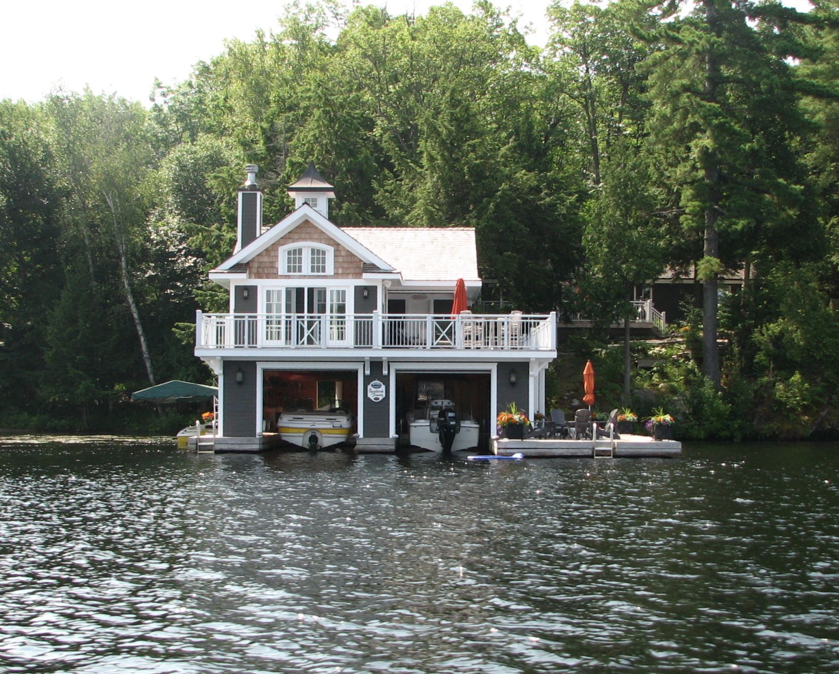 Another Muskoka Boat House Lakefront Living House Boat Floating House
